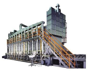 LINE FURNACE WITH ROLLER CONVEYOR