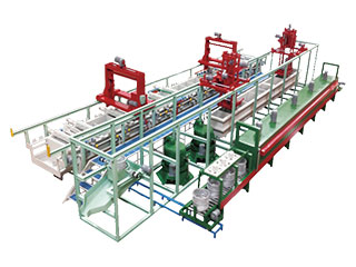 Galvanic coating lines for bolts, nuts, screws